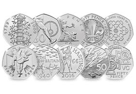 50th Anniversary of the 50p Complete BU Sets