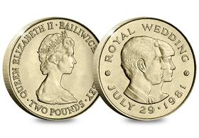 Jersey 1981 Charles and Diana Crown-Sized £2