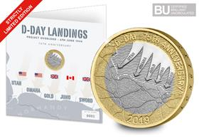 Change Checker 2019 UK D-Day £2 Display Card