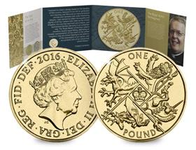UK 2016 Last Round Pound BU Coin Pack