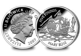 The Guernsey Mary Rose £5 Coin