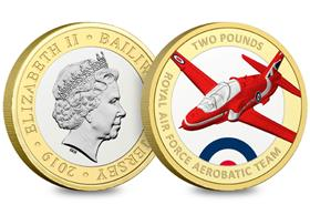 Red Arrows Silver Proof £2 Coin
