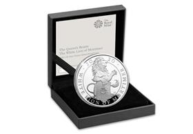 UK 2020 White Lion of Mortimer 1oz Silver Proof Coin