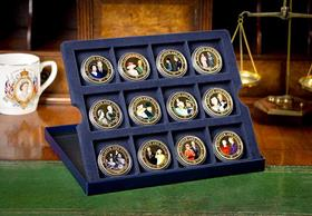 SALE: The Diamond Wedding Photographic 12 Coin Set