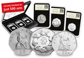 50th Anniversary of the 50p 3 coin DateStamp