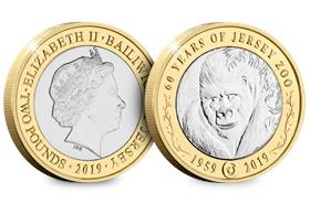 The 60th Anniversary of Jersey Zoo £2 Coin