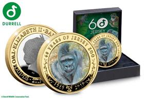 The 60th Anniversary of Jersey Zoo £2 Silver .