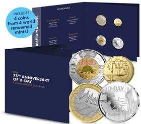 2019 D-Day Allied Nations Coin Pack
