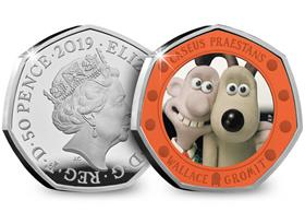UK 2019 Wallace & Gromit Silver Proof 50p