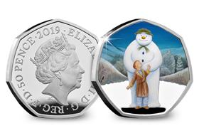 UK 2019 Snowman Silver Proof 50p