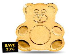 SAVE 33% - 1/2g Gold Teddy Bear Coin