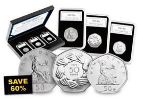 50th Anniversary of the 50p 3 coin Set