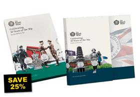 SAVE 25% - UK 2019 50th Anniversary of the 50p BU Pack Collections