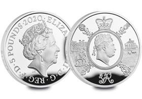 UK 2020 King George III £5 Silver Proof Coin