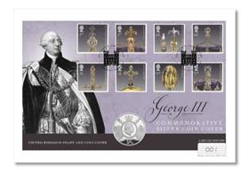 The George III Silver £5 Commemorative Cover