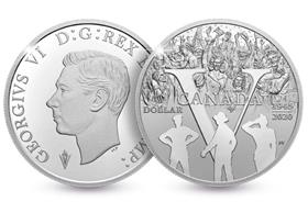 Canada 2020 75th Anniversary of VE Day Silver Proof Dollar