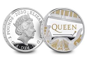 UK 2020 Queen 1oz Silver Proof £2 Coin