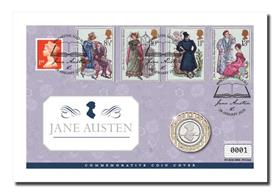 Jane Austen Commemorative Coin Cover