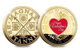 The Valentine's Day Gold-Plated Commemorative