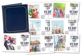The VE Day Victory BU 50p PNC Set