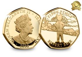 The Rupert Bear Gold Proof 50p Coin