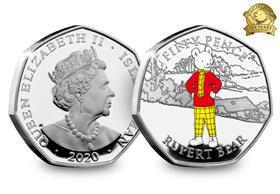 The Rupert Bear Silver Proof 50p Coin