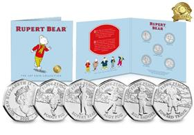 2020 Rupert Bear 50p Coin Collection