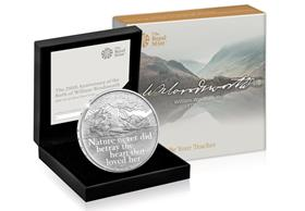 UK 2020 William Wordsworth £5 Silver Proof Coin