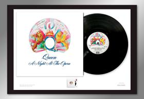 A Night at the Opera Stamp and Vinyl Frame