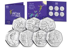 The Official Peter Pan Part 2 50p Coin Set