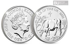 2021 UK Lunar Year of the Ox BU £5