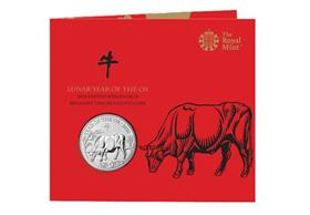 UK 2021 Lunar Year of the Ox £5 BU Pack