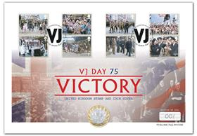 VJ Day 75th Anniversary UK Silver £2 Coin Cover