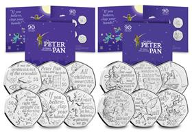 The Complete Peter Pan 50p Coin Collection