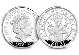 UK 2021 Alfred the Great £5 Silver Proof Coin
