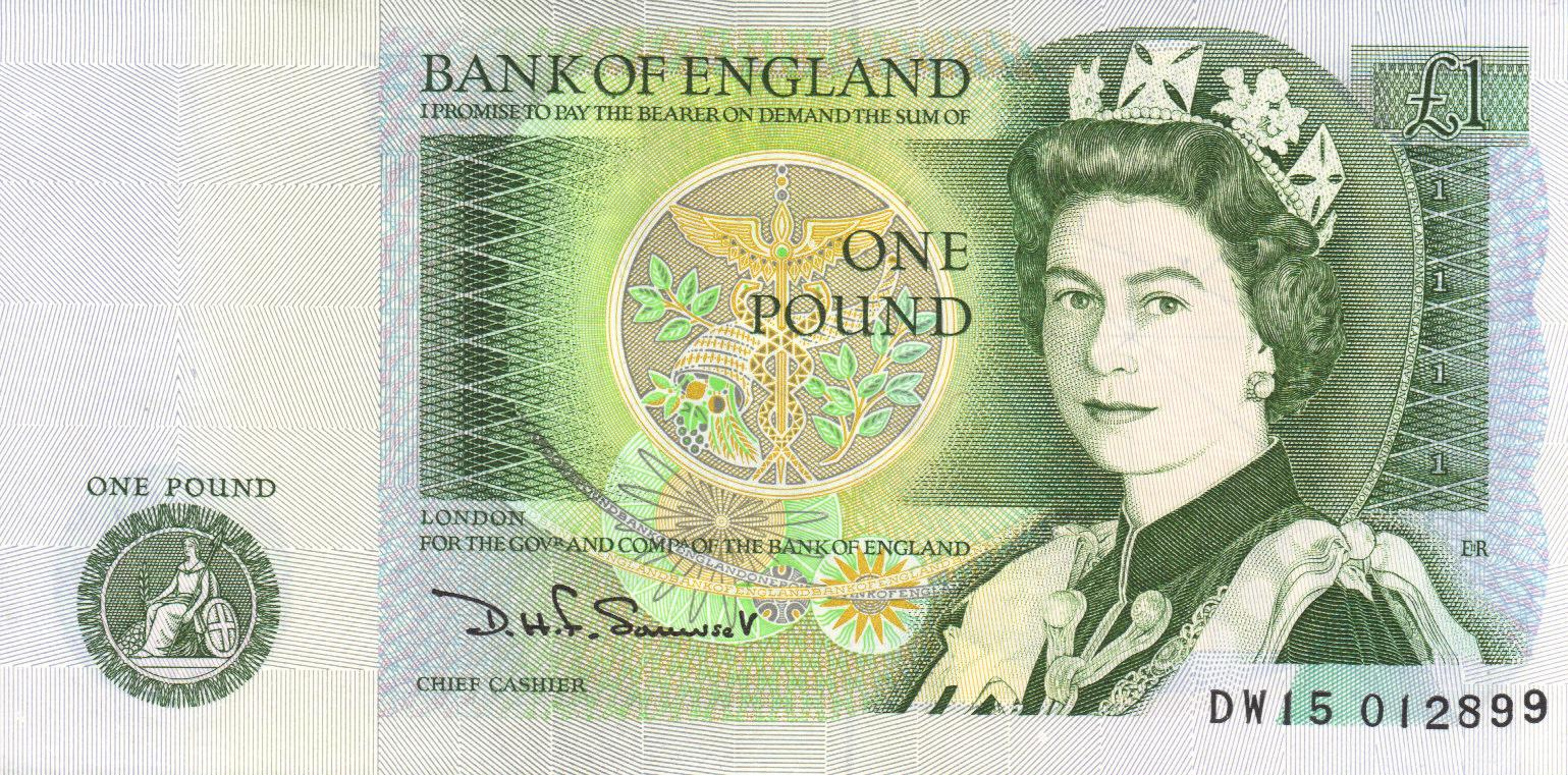 c2a31 note - Do you remember the £1 note?