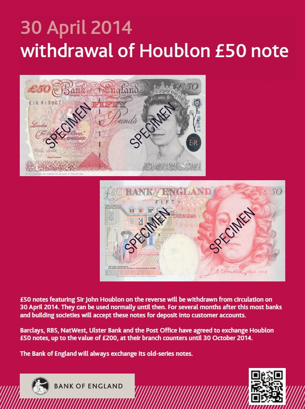 c2a350note poster - Is your £50 note about to expire?