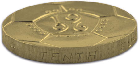 c2a32 coin side view - You don't have to love football to love this £2 coin...