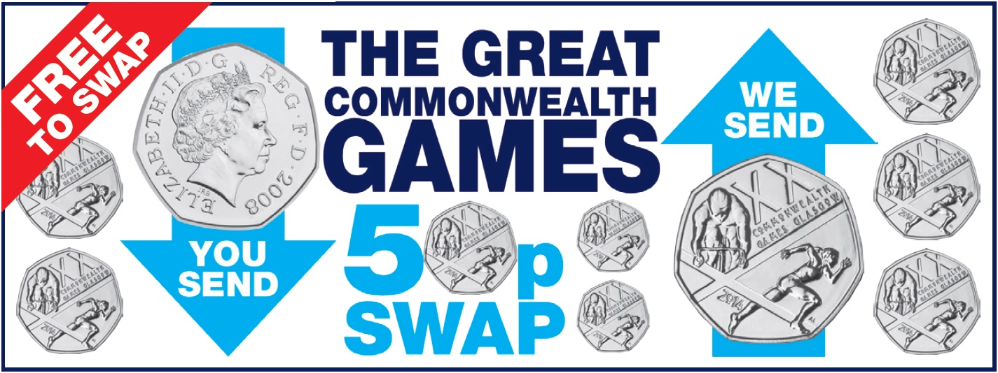 cwg swap banner - We've got your Commonwealth Games 50p!