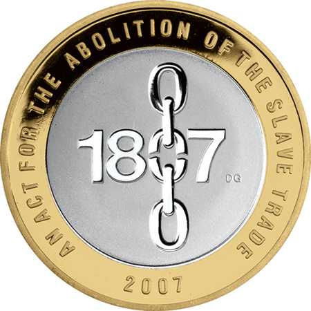 2007 c2a32 slavery - A £2 coin to commemorate the event which changed the world