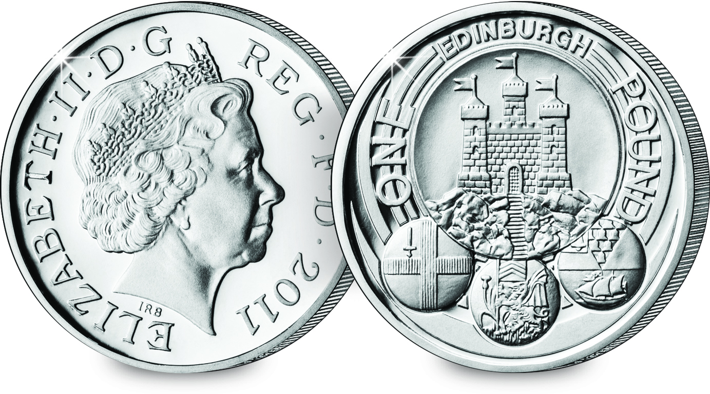 ST 2011 Edinburgh 1 Silver Proof Coin (Both Sides)