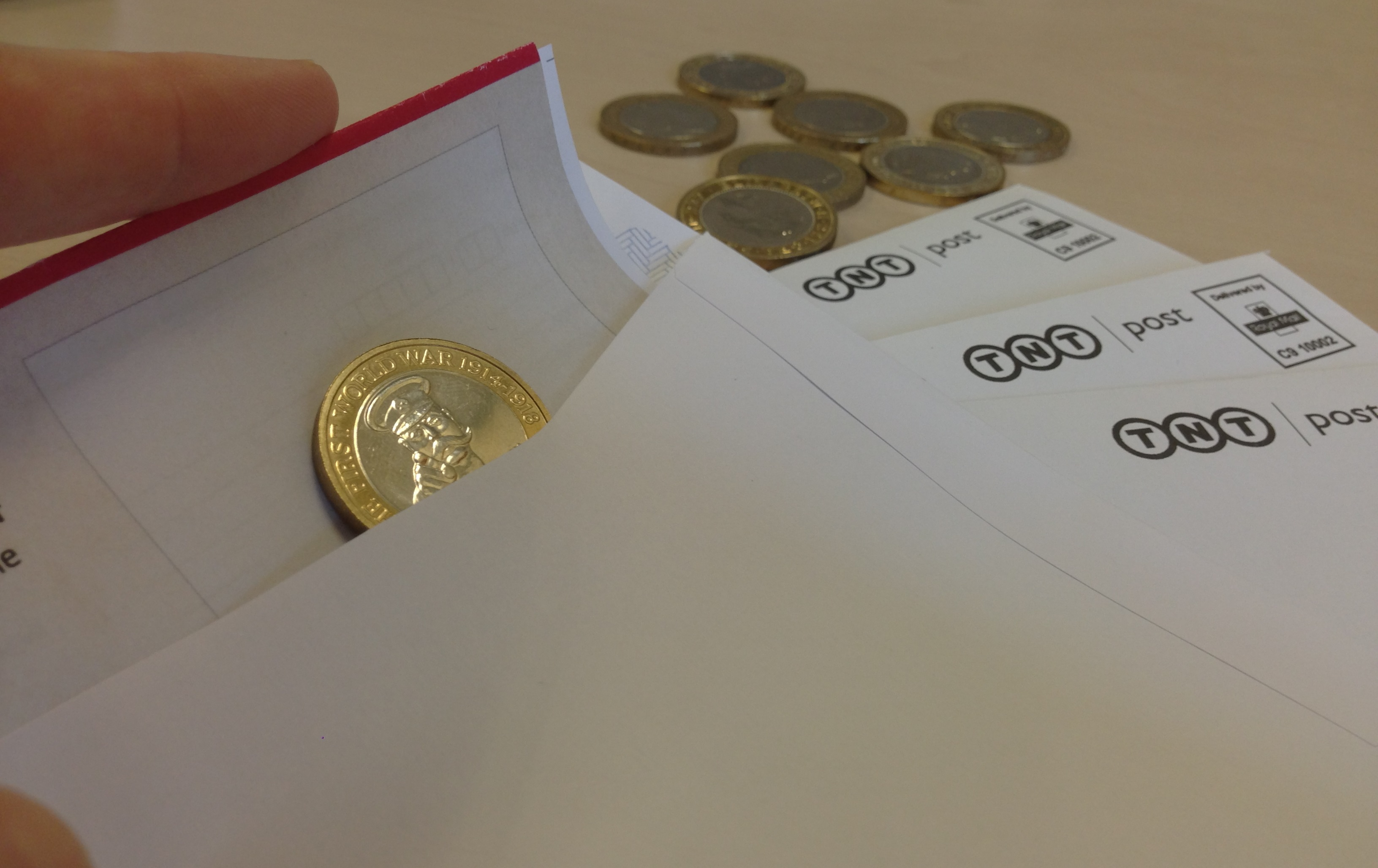 posting coins - It's here! How you can own the 2014 First World War £2