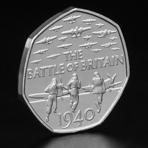 2015-UK-Battle-of-Britain-50p-BU-Coin-on-Angle