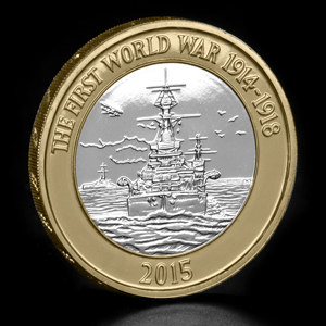 2015 uk wwi navy c2a32 bu coin on angle - Which new 2015 coin is your favourite? VOTE NOW...