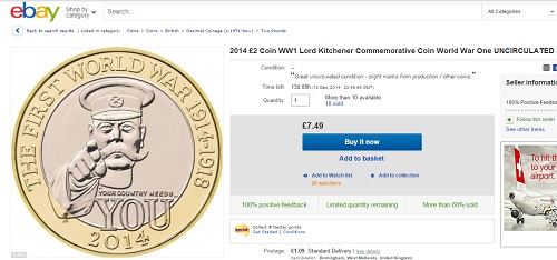 kitchener ebay - Why does everyone want the new Kitchener £2?