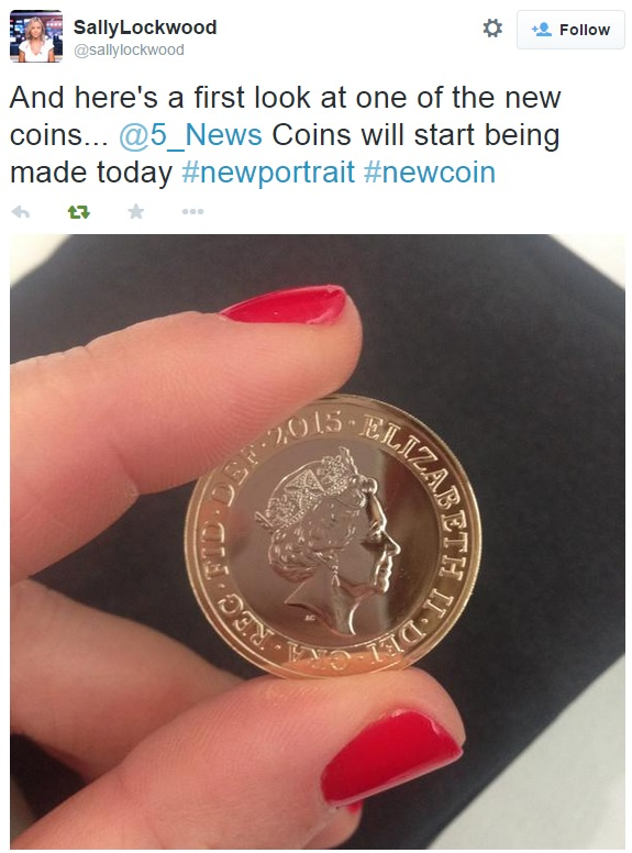 sally tweet - Revealed: The Queen's New Portrait for our Coins