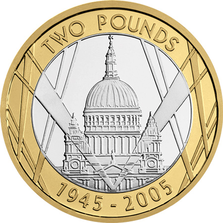 2005 St Pauls Two Pound Coin