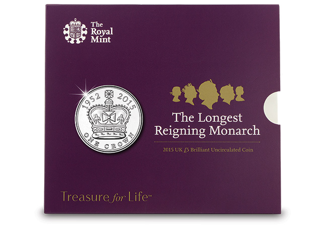 uk longest reigning monarch c2a35 coin pack - Does the UK now have a new Five Guinea coin?