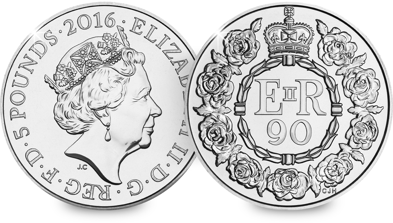 st 2016 queens 90th c2a35 bu coin both sides - Revealed: the Queen's 90th Birthday UK Coin for 2016