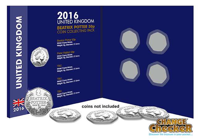 coin collecting pack - Peter Rabbit 50ps are in circulation - here's where to find them...